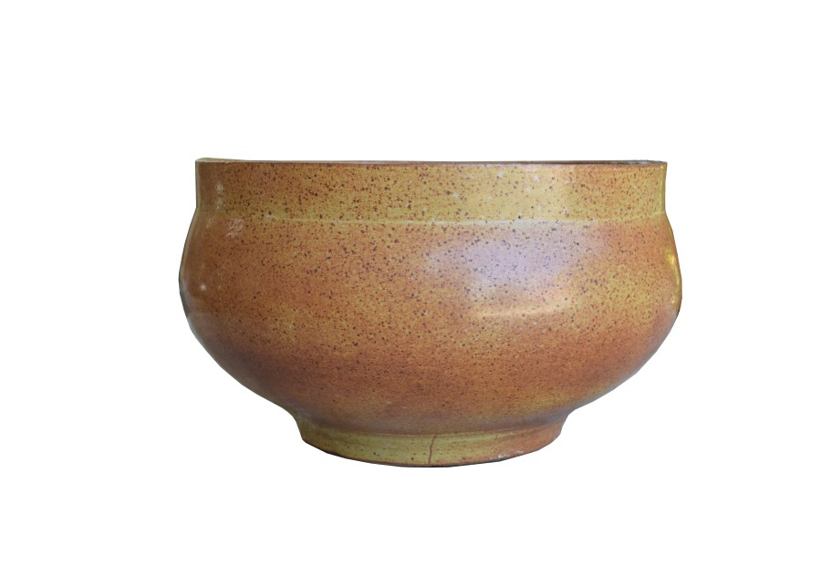 David Cressey Stoneware Planter, Glazed Speck Architectural