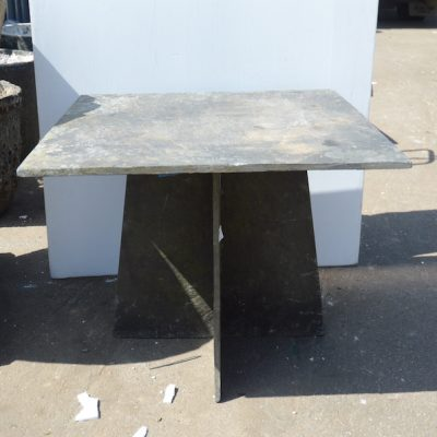 French 3-Piece Squared Slate Table