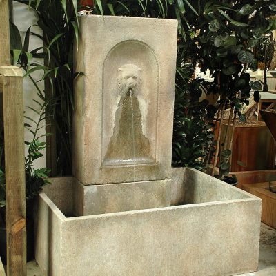 Resin Lion Fountain Basin