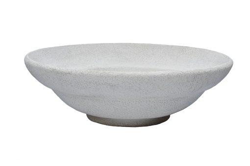 Inner Gardens Low Round Bowl: Terra Cotta Pot stone planter. Designed by renowed landscape designer Stephen Block.