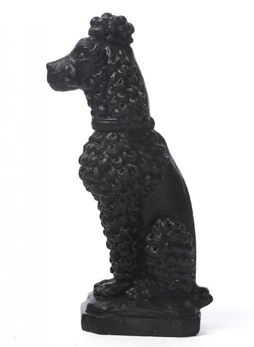 Black Poodle Statue