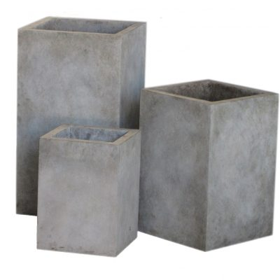 Modern Cast Concrete Upright Planter