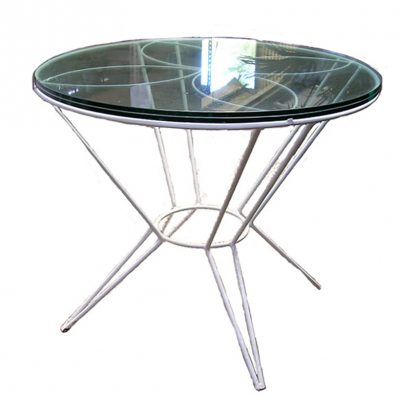 MLT-38 Metal Table Base with Glass Top edit