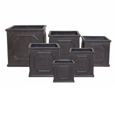 Faux Lead Chelsea Box Planters