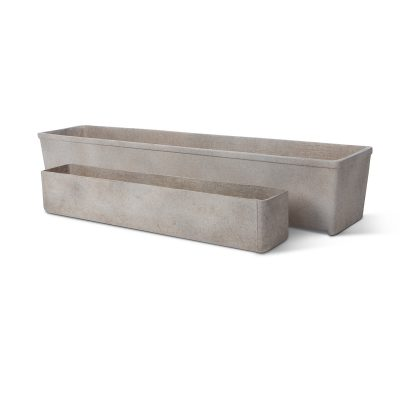 MLT91 & MLT99 Large & small modern troughs. Part of the Inner Gardens Collection, designed by Stephen Block.