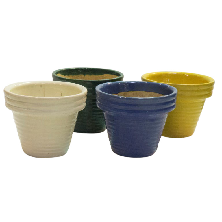 Rare Triple Rim Planters From Garden City Pottery Circa 1930