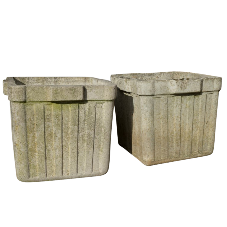 Vintage French Cement Planters Circa