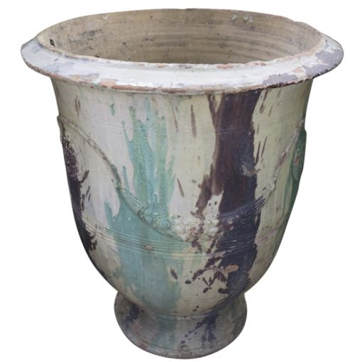 Inner Gardens French Anduze Terra Cotta Jar Planter by Boissier Rodier Workshop. terra cotta pots large, large outdoor plant pot, outdoor large planters pots, french planter. Discovered by renowned landscape designer Stephen Block.