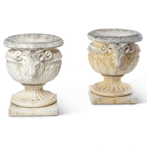 Inner Gardens vintage Italian planters with Aries figures. vintage planter, vintage garden, large outdoor plant pot, outdoor large planters pots, french planter, ideas for garden decor. Discovered by renowned landscape designer Stephen Block.