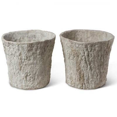 Inner Gardens antique French faux bois terra cotta planters made from 18th century moulds. vintage planter, vintage garden, large outdoor plant pot, outdoor planters pots, french planter, ideas for garden decor, terra cotta planter, terracotta planter pots. Discovered by renowned landscape designer Stephen Block.