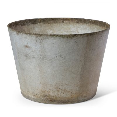 Vintage Tapered French Mid Century Planter. Vintage fibrecement outdoor plant pot. Perfect for creative landscaping and beautiful gardens. Discovered by renowned landscape designer Stephen Block, owner of plant nursery and garden store Inner Gardens.