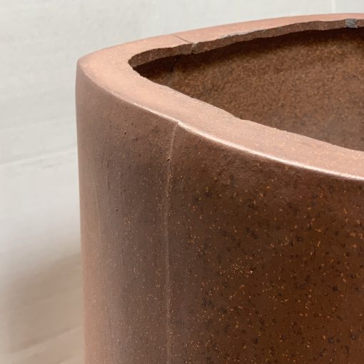 Edge detail, midcentury vintage Sgraffito architectural pottery planter