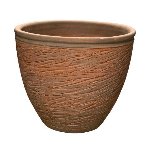 Hans Stumpf rolled rim planter, vintage midcentury pottery