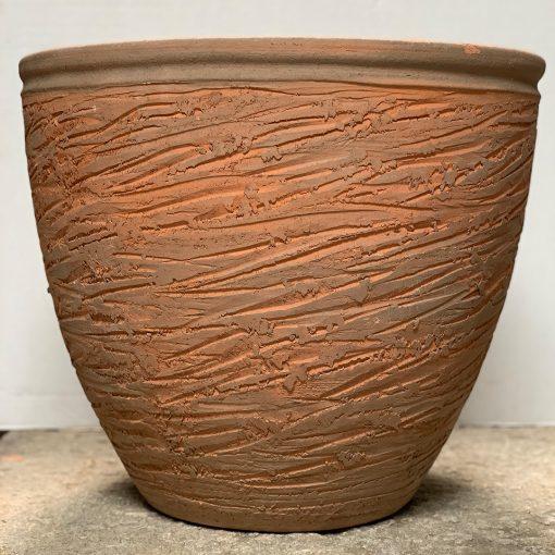 Vintage Hans Stumpf rolled rim planter vintage midcentury pottery
