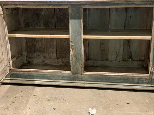 Antique French provincial cupboard inside view