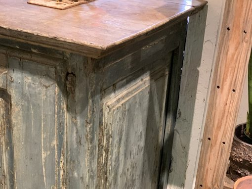 Antique French provencal furniture cupboard side