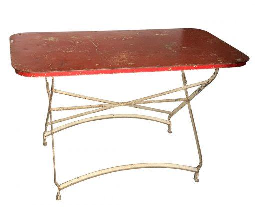 Mid century modern outdoor table