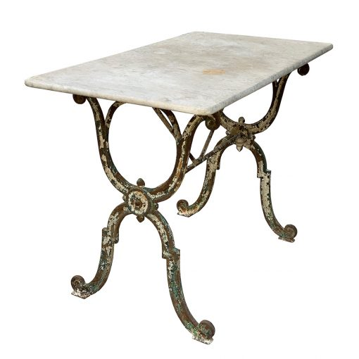 French antique cast iron table