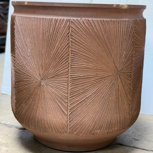 David Cressey & Robert Maxwell Earthgender vintage planter with starburst pattern