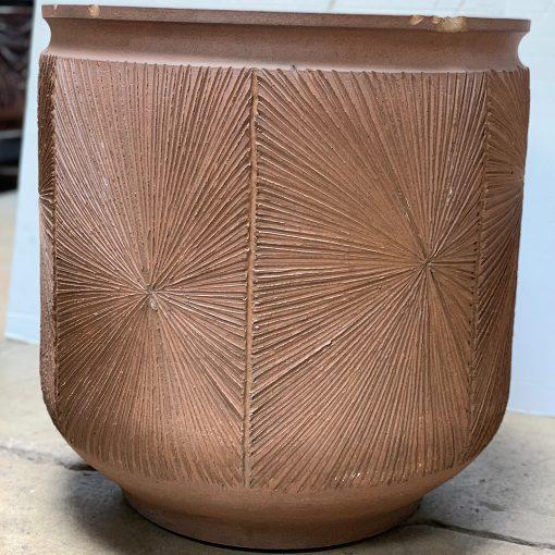 David Cressey & Robert Maxwell Earthgender vintage planter with starburst pattern