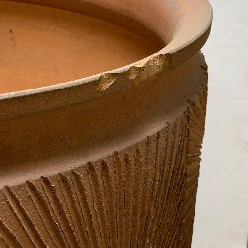Vintage Earthgender pottery planter right edge