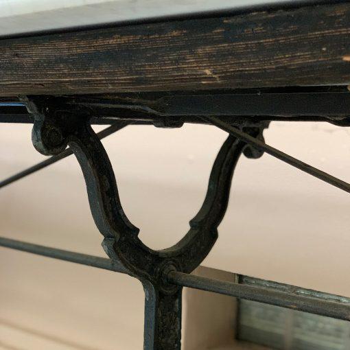 Antique art nouveau table detail closeup