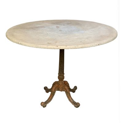 Antique marble and cast iron table for garden