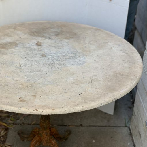 Antique bistro table with marble top