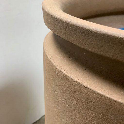 Unglazed planter rim, Earthgender vintage pottery by David Cressey
