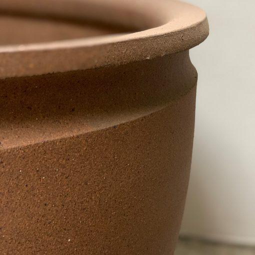 David Cressey Earthgender terracotta stoneware planter bowl, right edge