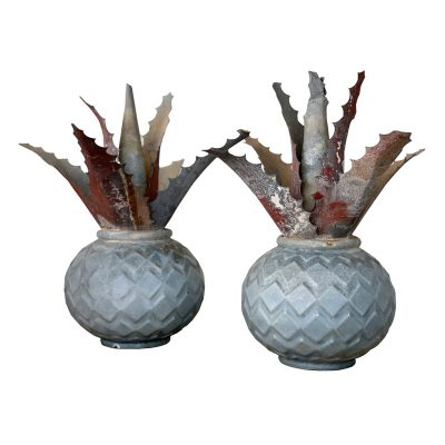 Decorative pineapple, vintage French garden decor