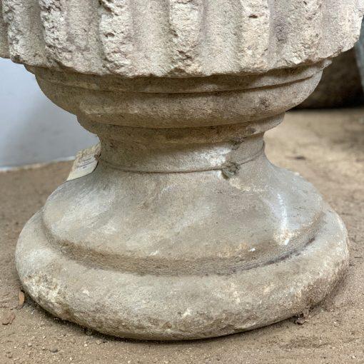 Garden finials, bottom detail of antique carved stone