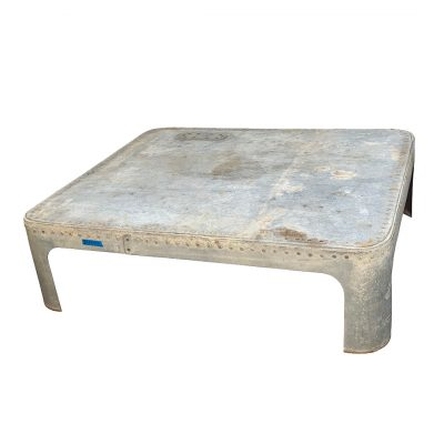 Antique industrial coffee table made of galvanized metal