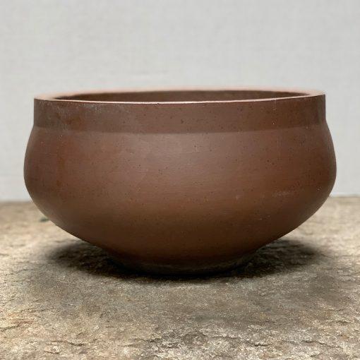 David Cressey planter, pro artisan unglazed stoneware