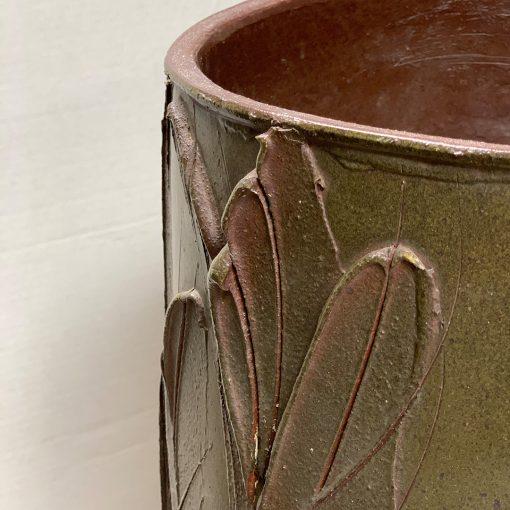David Cressey vintage pottery planter left rim