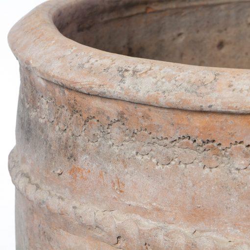 Spanish antique planter pot, left rim