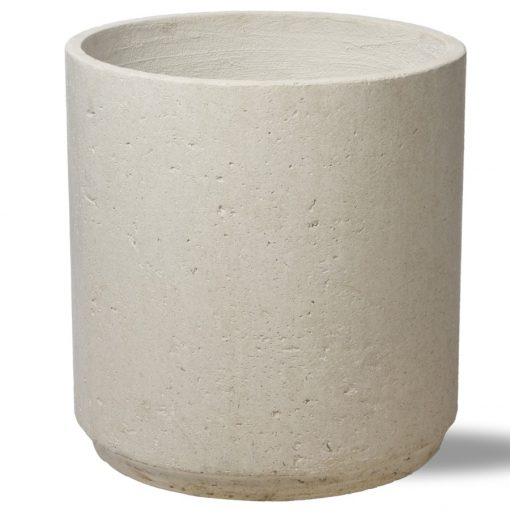 White cylinder, mid century planter pot