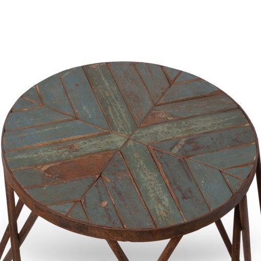 Nesting table top made of antique teak wood