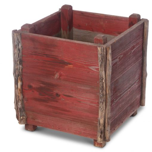 Red wood planter box