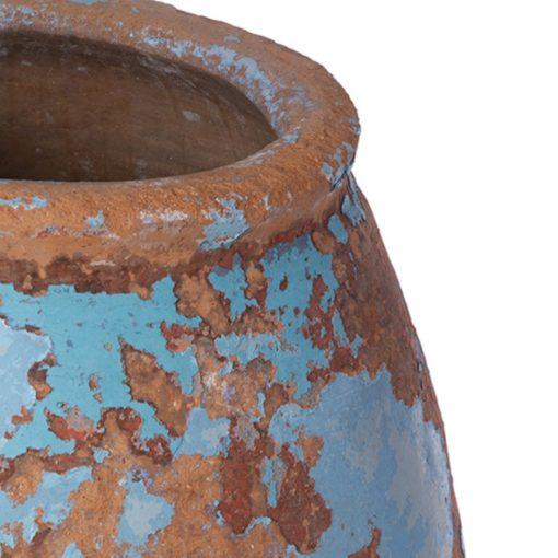 Antique terra cotta vase rim