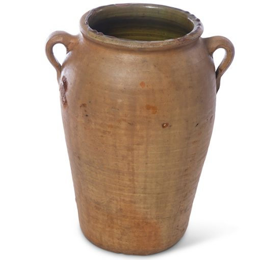 Brown terra cotta pot with handles
