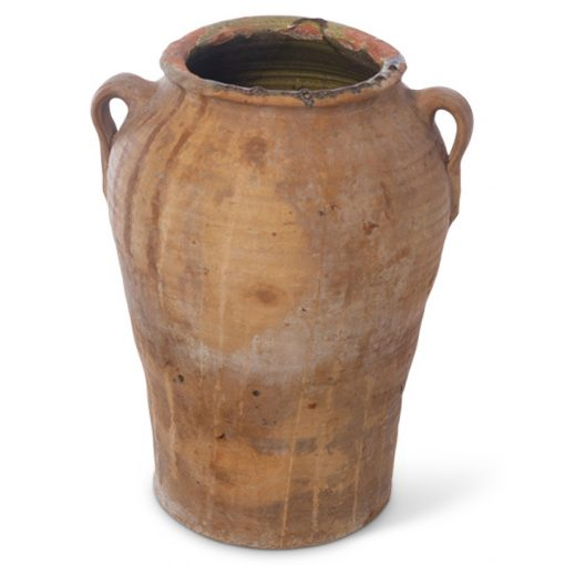 Antique terra cotta clay planter pot