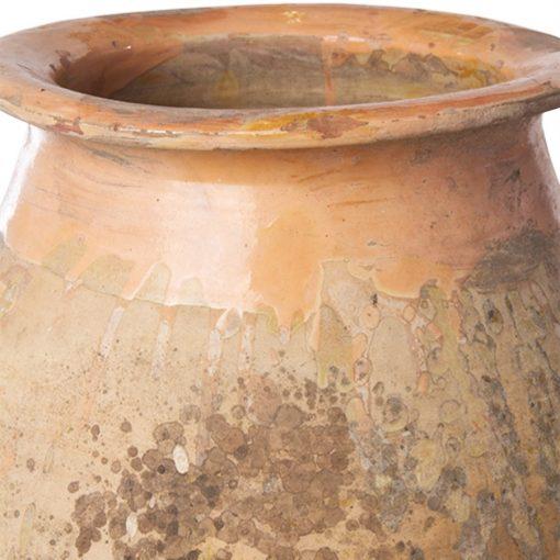 French biot jar with glazed rim and neck