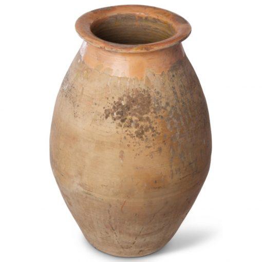 Large terracotta antique biot jar