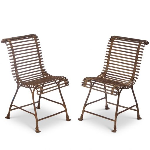 Pair of antique wrought iron chairs