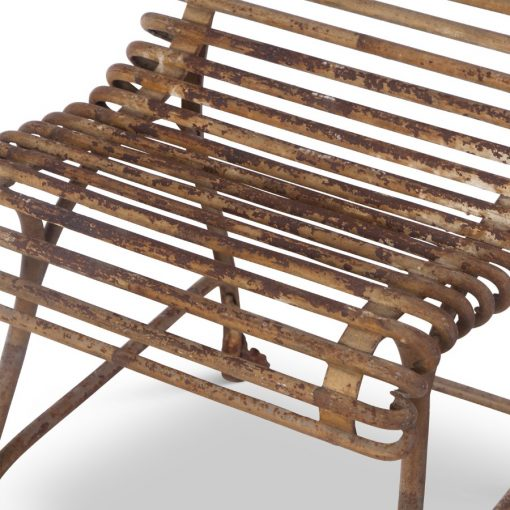Closeup of antique chair for sale