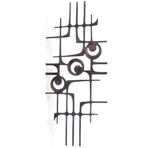 Wall Art: Retro metal garden sculpture