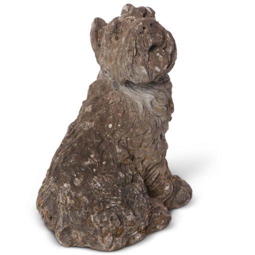 Vintage dog cement statue for sale