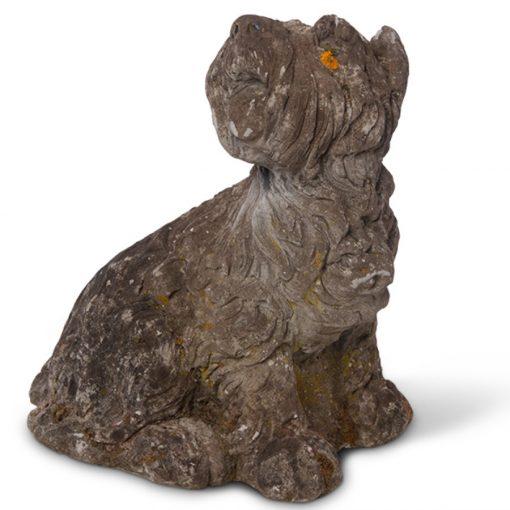 Vintage dog statue for the garden