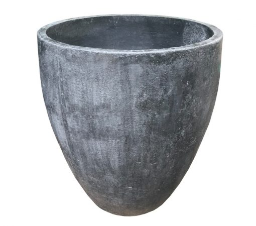 Tall planter, black, with v-shaped base
